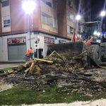 FOVASA Medio Ambiente asume las tareas de limpieza en Valencia zona 3 tras la 'Nit de la Cremà'