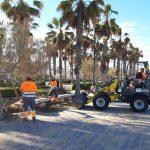 FOVASA despliega un dispositivo especial para limpiar de arena el paseo marítimo de Valencia tras el temporal